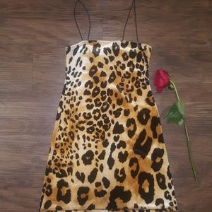 Forever 21 leopard print party dress